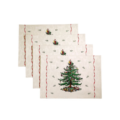Avanti Spode Red Christmas Tree 4-pc. Placemat