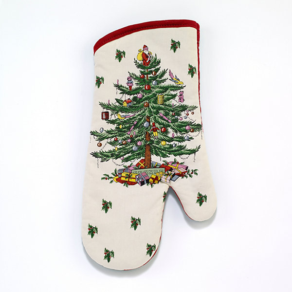 Avanti Spode Red Christmas Tree Oven Mitt