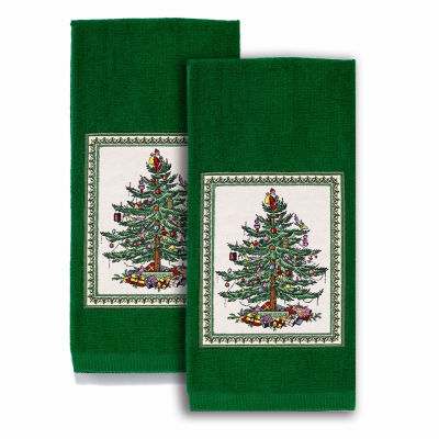 Avanti Spode Red Christmas Tree 2-pc. Kitchen Towel