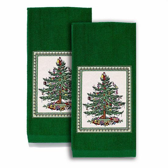 Avanti Spode Red Christmas Tree 2-pc. Kitchen Towel