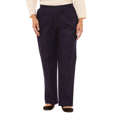Alfred Dunner Gypsy Moon Denim Flat Front Pants-Plus