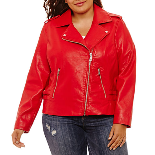 Project Runway Lightweight Motorcycle Jacket-Plus