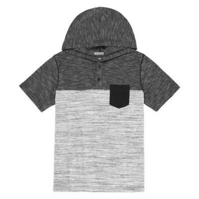 Arizona Short Sleeve Hooded Henley Boys 8-20