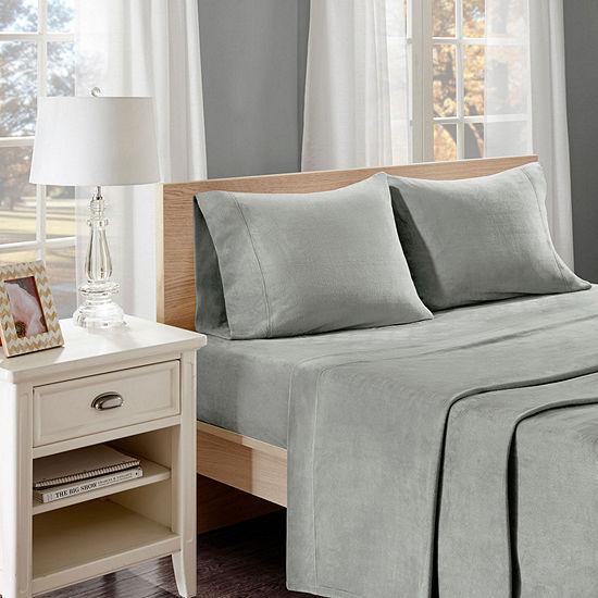 True North By Sleep Philosophy Liquid Velvet Fleece Easy Care Sheet Set