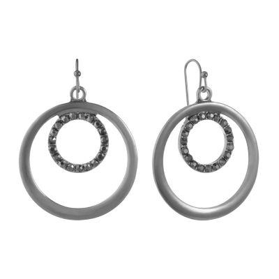 Liz Claiborne Gray Drop Earrings