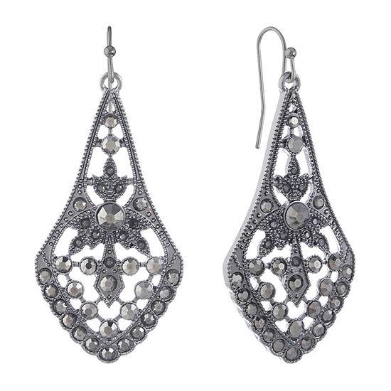 Liz Claiborne 1 Pair Gray Drop Earrings