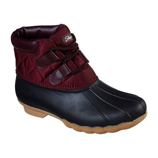 Skechers Womens Cozy Campfire-Team Toasty Flat Heel Rain Boots