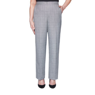 Alfred Dunner Madison Avenue Womens Straight Pull-On Pants