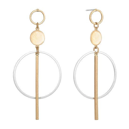 a.n.a. Two Tone Drop Earrings