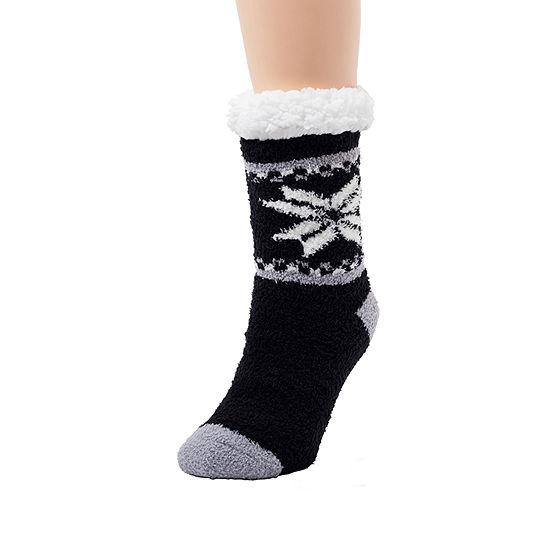Cuddl Duds 1 Pair Slipper Womens Socks