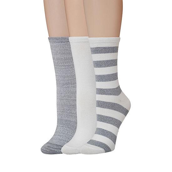 Cuddl Duds 3 Pair Womens Crew Socks