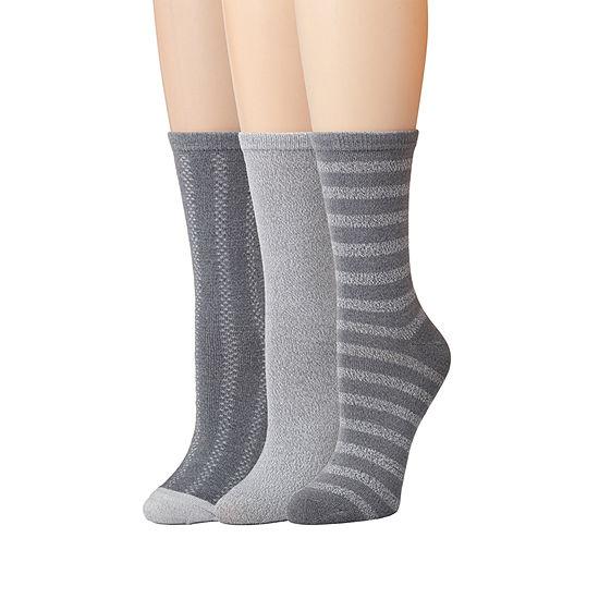 Cuddl Duds 3 Pair Crew Womens Socks