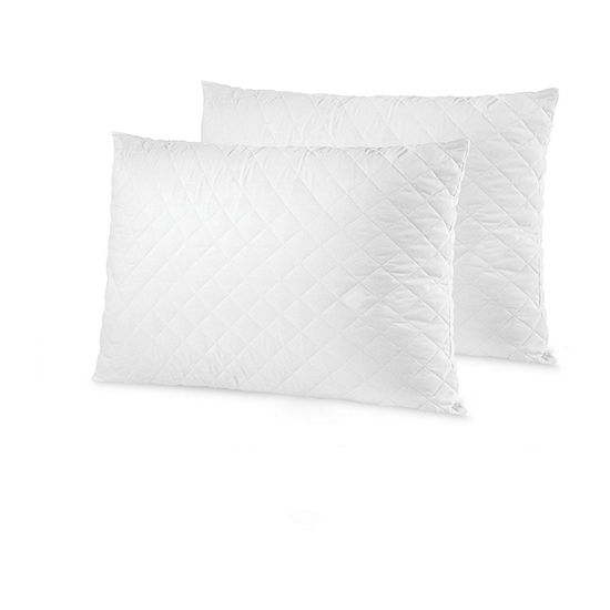 Sensorpedic Memoryloft Deluxe 2-Pack Quilted With Gel Memory Foam Medium Density Pillow