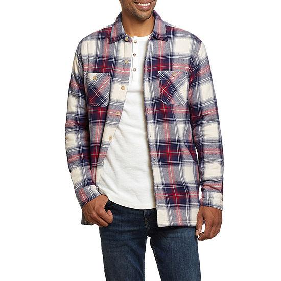 American Threads Sherpa Lined Flannel Lightweight Shirt Jacket