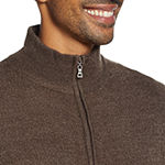 American Threads Mens Mock Neck Long Sleeve Quarter-Zip Pullover