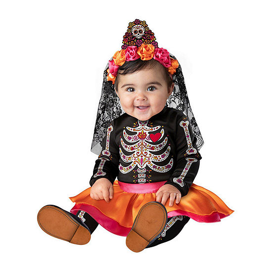 Infant Sugar Skull Sweetie Girls Costume