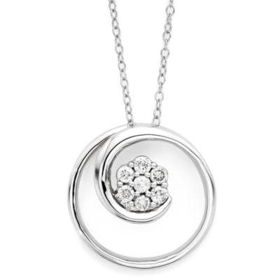 diamond blossom 1/6 CT. T.W. Diamond Swirl Pendant Necklace