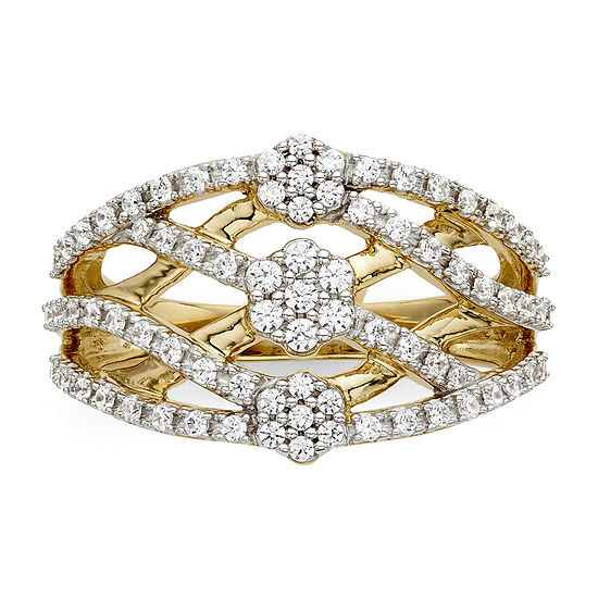 diamond blossom 1/2 CT. T.W. Diamond Criss-Cross Ring