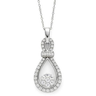 diamond blossom 1/2 CT. T.W. Diamond Loop Pendant Necklace