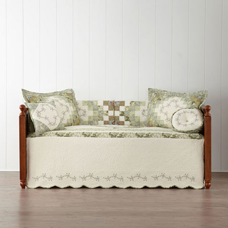 Home Expressions Cassandra Pieced Daybed Cover, One Size , Multiple Colors