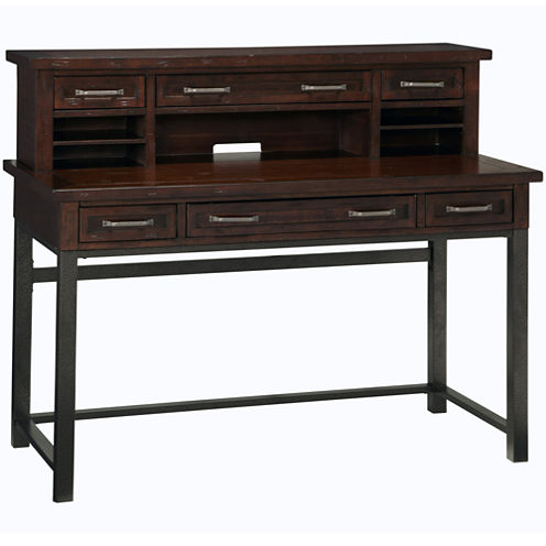 Mountain Lodge Distressed Executive Desk and Hutch