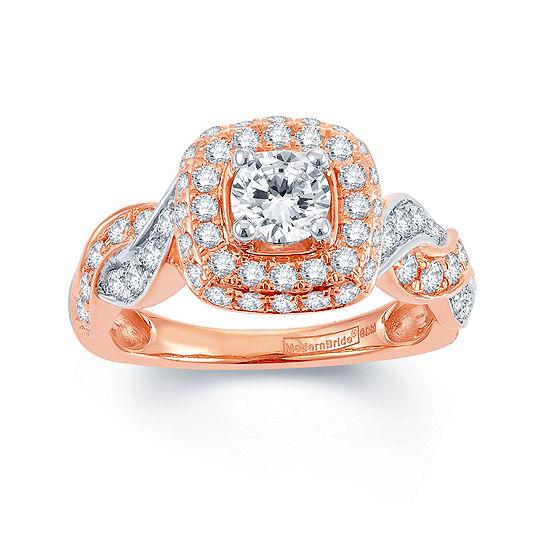 Modern Bride Signature 1 Ct Tw Diamond 14k Rose Gold Infinity Ring
