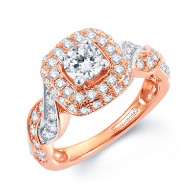 Modern Bride® Signature 1½ CT. T.W. Diamond 14K Rose Gold Infinity Ring