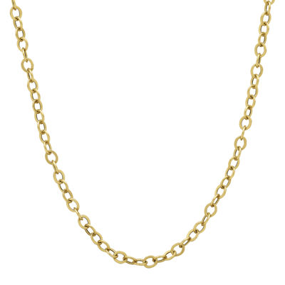 """Made in Italy 14K Yellow Gold 20"""" Hollow Rolo Chain Necklace"""