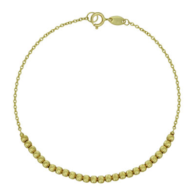 14K Yellow Gold Bead Bracelet