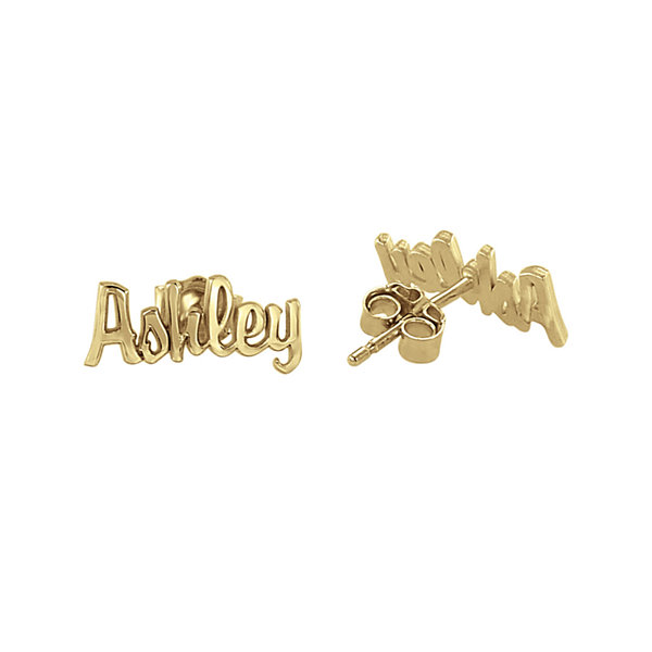 Personalized Name Script Earrings
