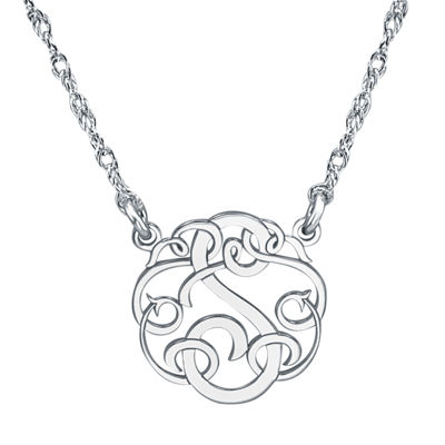Personalized 15mm Ribbon-Style Initial Necklace