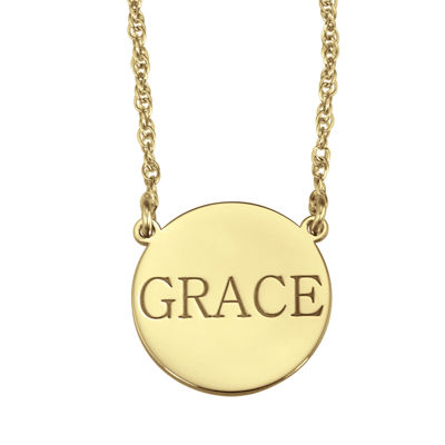 Personalized Name Disk Necklace