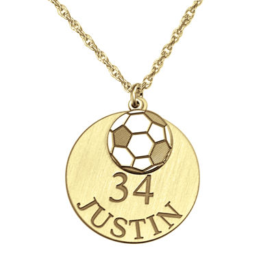 Personalized Soccer Double-Charm Necklace