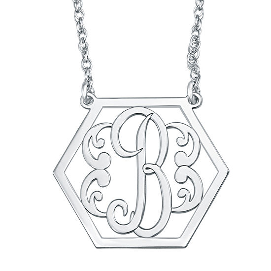 Personalized Hexagon Initial Necklace