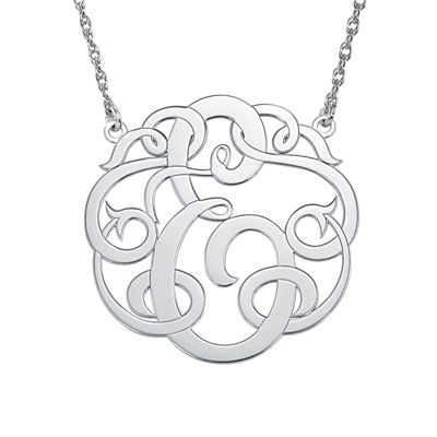 Personalized 25mm Ribbon-Style Initial Necklace