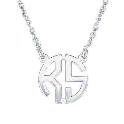 Personalized 15mm Block Monogram Necklace