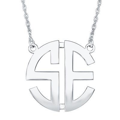 Personalized 25mm Block Monogram Necklace