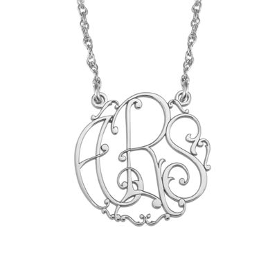 Personalized 20mm Ivy Monogram Necklace