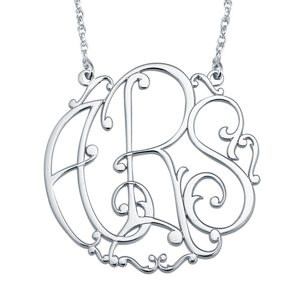 Personalized 30mm Ivy Monogram Necklace