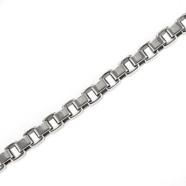 "Mens Stainless Steel 24"" 5mm Box Chain Necklace"