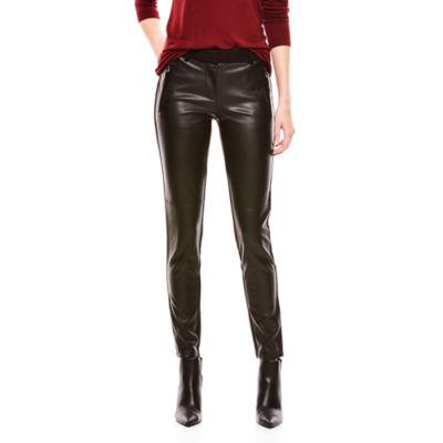 Joe Fresh™ Faux-Leather Ponte Pants