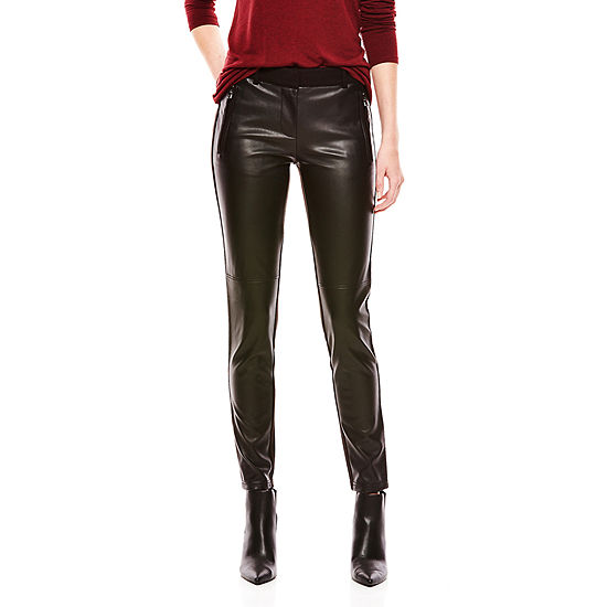 Joe Fresh™ Faux-Leather Ponte Pants