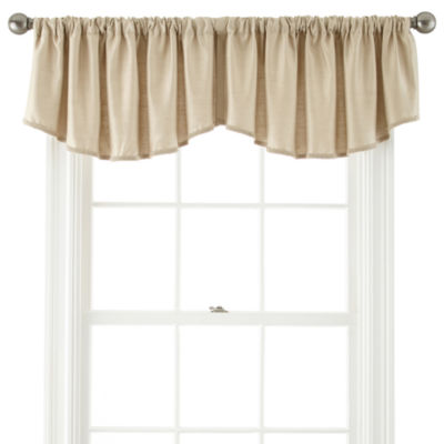 Supreme Rod-Pocket Rounded Ascot Valance