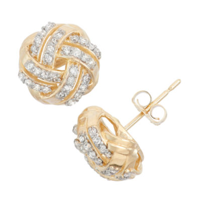 1/3 CT. T.W. Round White Diamond 10K Gold Stud Earrings