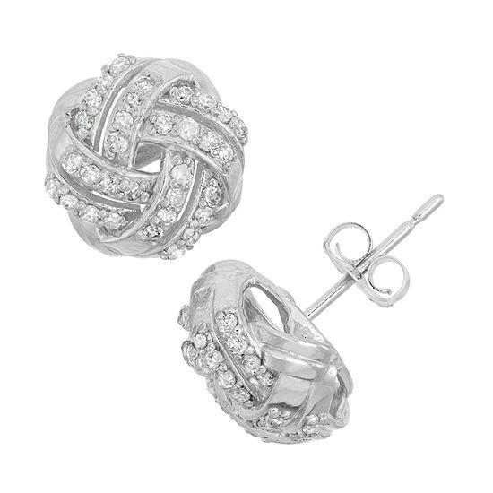 1/3 CT. T.W. Genuine White Diamond 10K Gold 8.4mm Stud Earrings