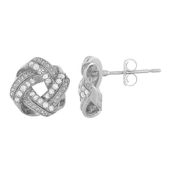 1/5 CT. T.W. Genuine White Diamond 10K Gold 9.6mm Stud Earrings