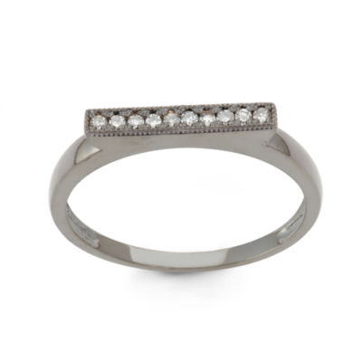 Womens 1/10 CT. T.W. White Diamond 10K Gold Band