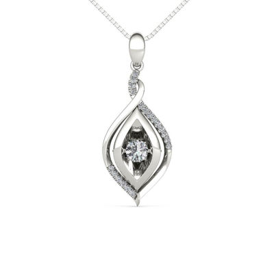Love in Motion 1/4 CT. T.W. White Diamond Round Pendant