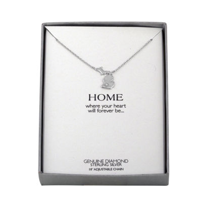 Diamond Accent Sterling Silver Michigan Pendant Necklace