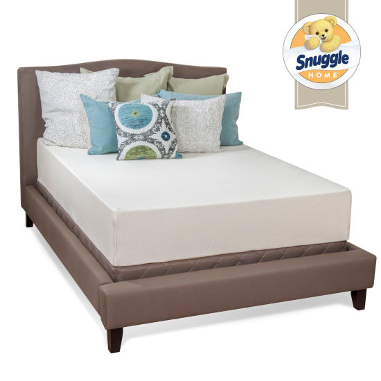 "Snuggle Home 12"" Medium Tight-Top Gel Memory Foam Mattress"